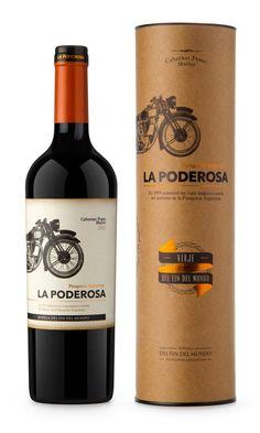 La Poderosa - Bodega del Fin del Mundo - wine packaging design by Kid Gaucho from Argentina
