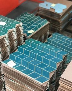 Little Diamonds tile in our Seafoam glaze, fresh from our SF tile factory Master Bedroom Bathroom, Bathroom Renos, Master Bath, Bathrooms, Diamond Formation, House Tiles, Kitchen Tile, Sea Foam, Sweet Home
