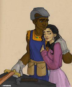 Charles and Silena (PJOShipweeks) by meabhdeloughry.deviantart.com on @deviantART