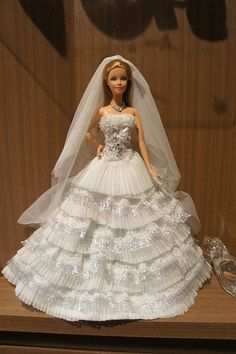 """Barbie's Wedding Dress"" by orange flower 