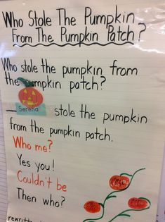 Plus student names into this fun pumpkin poem. Great for shared reading in October! Build name recognition, rhyming, and concepts of print with this fun call a response poem based on Who Stole the Cookie from the Cookie Jar. Circle Time Activities, Fall Preschool Activities, Name Activities, Preschool Songs, Morning Meeting Kindergarten, Kindergarten Poems, Halloween Poems, Preschool Halloween, Pumpkin Poem