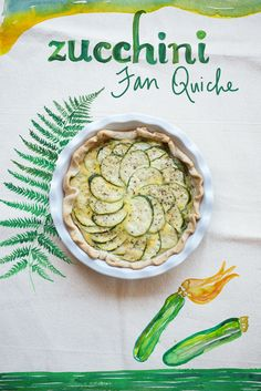 A simple zucchini quiche from The Forest Feast