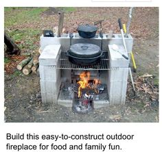 diy outdoor projects A portable outdoor fireplace can keep your party moving! This is a great Do It Yourself project for outdoor cooking without a conventional grill.