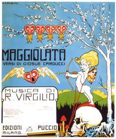 Antonio Rubino, 1906, cover for Maggiolata