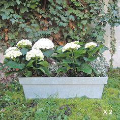 Jardinière en zinc mat (par 2) decoclico Jardin : Decoclico