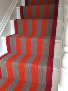 Red & orange stair runner