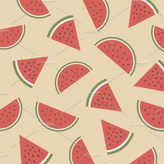 watermelon pattern Graphics retro watermelon pattern, pastel wallpaper by ZIRSOLOSTUDIO