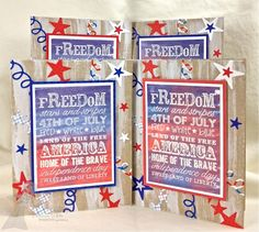 Graphic Greetings Patriotic Cards By Shannon White #Patriotic, #4thofJuly, #Cardmaking