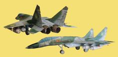 This aircraft paper model is a Mikoyan a variant of the Mikoyan (NATO reporting name: Fulcrum), which is a twin-engine jet fighter aircraf Paper Airplane Models, Model Airplanes, Paper Models, Paper Planes, Papercraft Download, Paper Art, Paper Crafts, Aircraft Pictures, Paper Toys