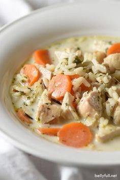 Creamy Chicken Wild Rice Soup - a wonderfully quick and easy soup made with wild rice instead of noodles and a blend of spices. Delicious!