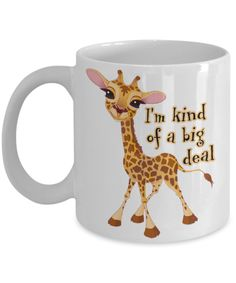 April the giraffe. I'm kind of a big deal. Baby calf mug.