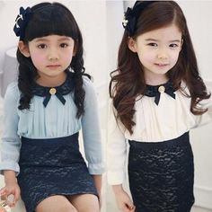 2 Color Brand New 2014 spring children's clothing Lace Patchwork child baby female child long sleeve Girl dress Baby & Kids 6544-inDresses from Apparel & Accessories on Aliexpress.com