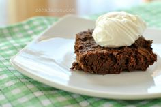 Zucchini Brownies with Cream Cheese Whip (Sugar Free, Low Carb, THM-S)