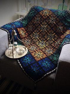 Crochet Afghans Design Medina Mosaic tiles crochet pattern - The Medina Mosaic tiles are inspired on Granny Square Crochet Pattern, Crochet Squares, Crochet Granny, Crochet Motif, Easy Crochet, Free Crochet, Ravelry Crochet, Crochet Afghans, Crochet Blankets