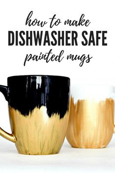 How to make a dishwasher safe painted mug! Makes a great gift!!