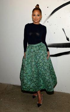 Hily Designs: Jennifer López viste un bello diseño de Christian Siriano