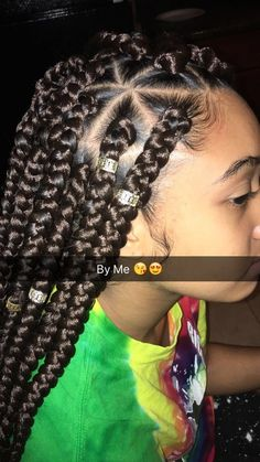 43 Cool Blonde Box Braids Hairstyles to Try - Hairstyles Trends Big Box Braids, Blonde Box Braids, Box Braids Styling, Box Braids For Kids, Medium Sized Box Braids, Jumbo Box Braids, Box Braids Hairstyles, Girl Hairstyles, Hairstyle Braid