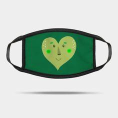 Green heart - Green - Mask | TeePublic