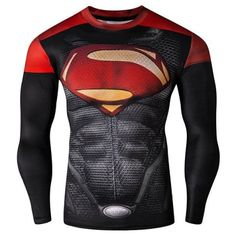 Looking for the perfect Men Long Sleeve Compression T-Shirt Marvel Dc Comics Tight Superman? Please click and view this most popular Men Long Sleeve Compression T-Shirt Marvel Dc Comics Tight Superman. Superman Cosplay, Superman T Shirt, Men Cosplay, Superman Stuff, Batman Spiderman, Bodybuilding T Shirts, Bodybuilding Clothing, Bodybuilding Fitness, Superman