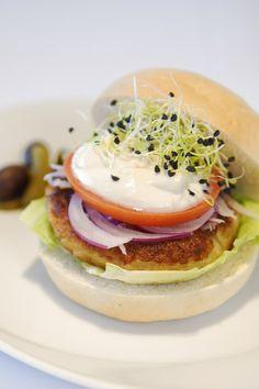 Hamburguesa vegetariana de mijo