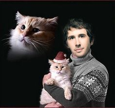 Josh Groban and his cat ;)
