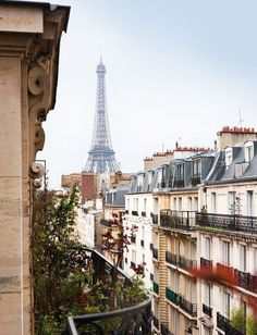 Next vacation destination -has to be!  Balcony view on Paris