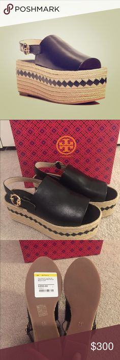 New in Box Tory Burch Dandy Espadrille Sandals 7.5 These are new for spring. They are selling for full price on the Tory Burch website and other high-end apartment websites. These are a size 7.5. They are absolutely gorgeous. Tory Burch Shoes Espadrilles