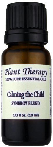 Calming the Child Synergy Essential Oil Blend. 10 ml. 100% Pure, Undiluted, Therapeutic Grade. (Blend of: Lavender, Tangerine, Mandarin, Roman Chamomile and German Chamomile) Plant Therapy Essential Oils