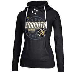 adidas Toronto Raptors Women's Black Distressed Back Logo Hoodie
