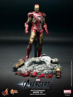 1/6 Hot Toys - MMS196 - The Avengers: Battle Damaged Mark VII (Movie Promo Edition) - Sideshow Freaks