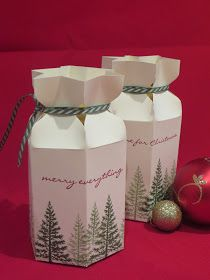 CraftyCarolineCreates: Star Top Gift Box - Video Tutorial using Festival of Trees by Stampin' Up, Ideal for Jars.of Jam or Chutney