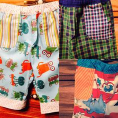 Check out our fun, new pants for little boys. All handmade and they currently come in three different styles!!