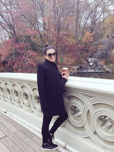 Lea Michele at Bow Bridge in Central Park, NYC