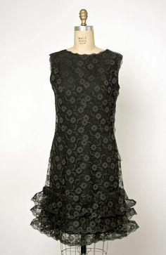 Dress, Evening  House of Balenciaga (French, founded 1937)  Designer: Cristobal Balenciaga (Spanish, 1895–1972) Date: 1965 Culture: French Medium: cotton