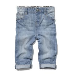 Kids Baby Girl Washed Jean
