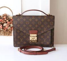 Louis Vuitton Bag Monceau Monogram Vintage Handbag SR0966 by allvin on Etsy