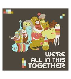 Together Print by Laura Berger on Little Paper Planes