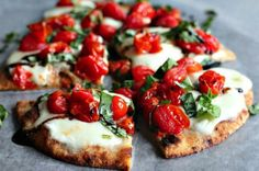 Caprese Flatbread — PERFECT for summer.