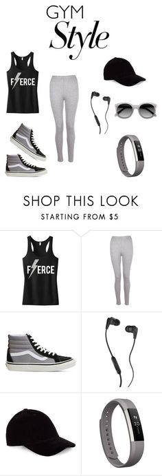 """Fierce Fatigue"" by baelovesfashion ❤ liked on Polyvore featuring Boohoo, Vans, Skullcandy and Fitbit"