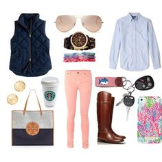 School Day. I have the phone case and pants and Starbucks I just need the rest! -Sidney Roberts