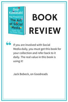 Book review for The Art of Social Media: If you are involved with Social Media daily, you must get this book for your collection and refer back to it daily. The real value in this book is using it! http://artof.social/