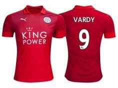 Leicester City #9 Jamie Vardy 2016-17 Road Short Shirt