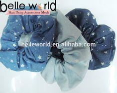 Denim Fabric Mini Dot Elastic Hair Band Scrunchie Ponytail Holder - Buy Elastic Hair Band Scrunchie,Scrunchie Ponytail Holder,Fancy Ponytail Holders Product on Alibaba.com