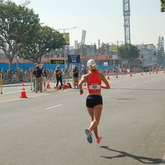 LOVE watching my daughter, Nicole, race! LOVE this pic of her battling through the heat of the 2016 Olympic Trials Marathon!