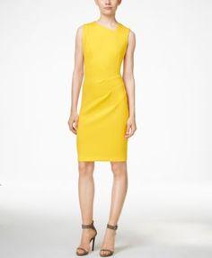 Calvin Klein Asymmetrical Sheath Dress  d98ecb42f