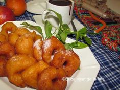 Buñuelos de calabaza. Bunyols de carabassa valencianos paso a paso foto a foto – El Calaixet de la Iaia Tandoori Chicken, Shrimp, Strawberry, Meat, Fruit, Ethnic Recipes, Valencia, Food, Home