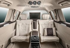 Mercedes-Benz Pullman Maybach - picture 16 of 18 - Interior - image resolution: Mercedes Maybach S600, New Mercedes Amg, Most Expensive Luxury Cars, Daimler Ag, Geneva Motor Show, Car In The World, Hot Cars, Super Cars, Private Jets