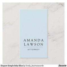 Elegant Simple Baby Blue Business Card