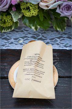 wedding menu @weddingchicks