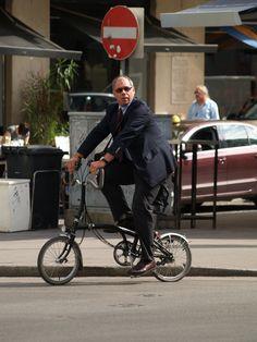 Business men - biking to work